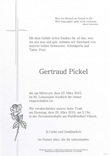 Gertraud Pickel