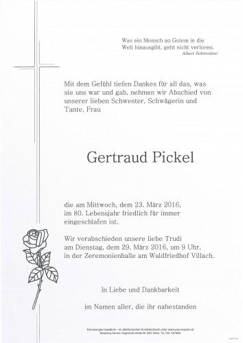Gertraud Pickel