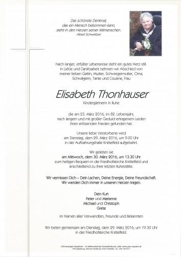 Elisabeth Thonhauser
