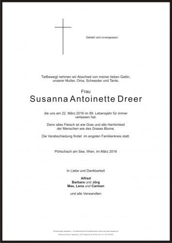 Susanna Antoinette Dreer
