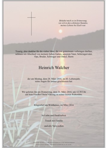 Heinrich Walcher