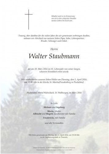 Walter Staubmann