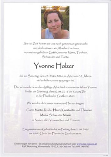 Yvonne Holzer