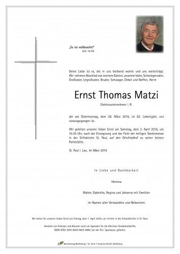 Ernst Thomas Matzi