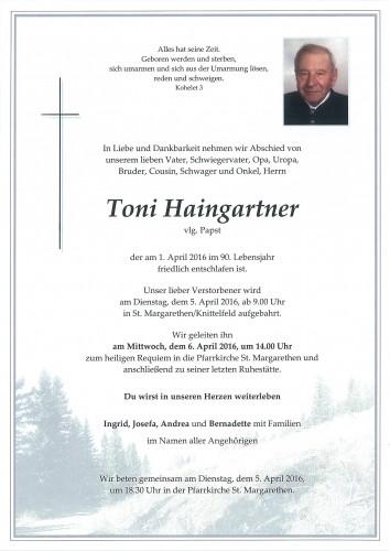 Toni Haingartner