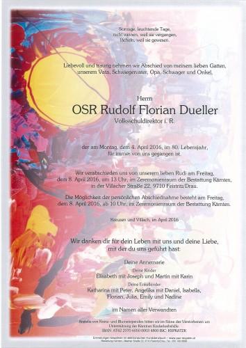OSR Rudolf Florian Dueller