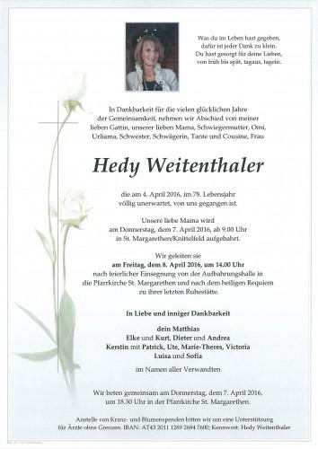 Hedy Weitenthaler