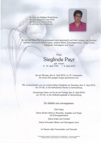 Sieglinde Payr