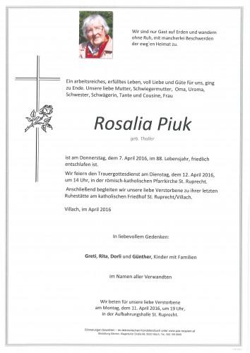Rosalia Piuk geb. Thaller