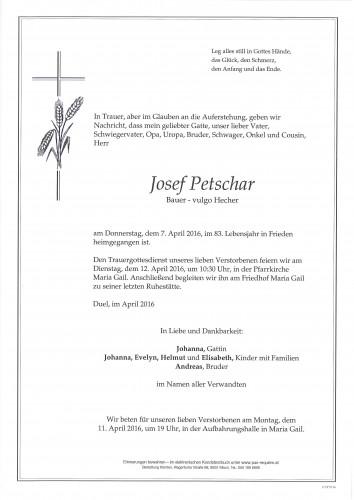 Josef Petschar, vulgo Hecher