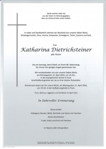 Katharina Dietrichsteiner geb. Rauter
