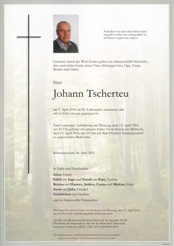 Johann Tscherteu