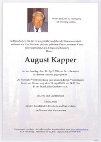 August Kapper