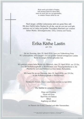 Erika Käthe Lastin