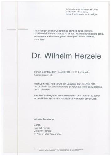 Dr. Wilhelm Herzele