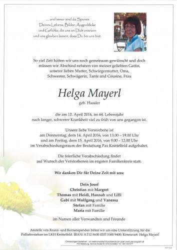 Helga Mayerl
