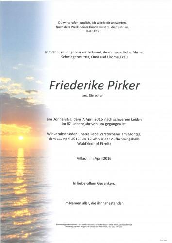 Friederike Pirker geb. Dielacher