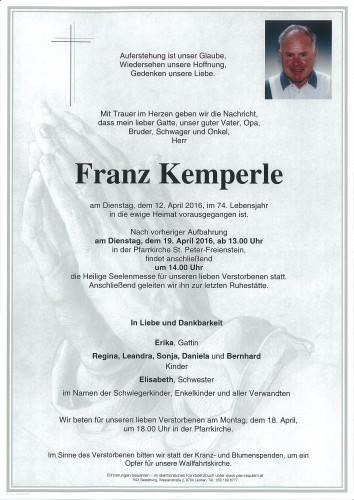 Franz Kemperle