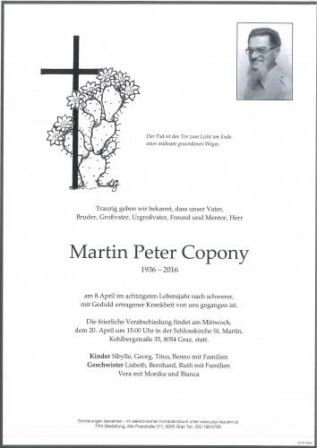 Martin Peter Copony