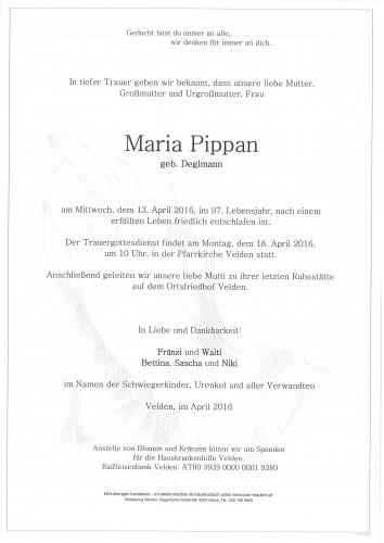 Maria Pippan geb. Deglmann