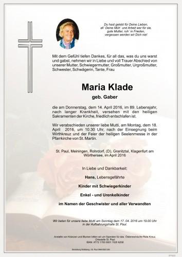 Maria Klade