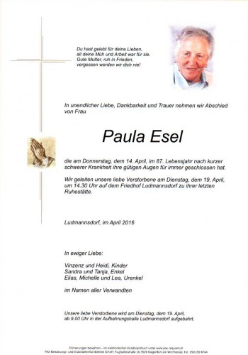 Paula Esel