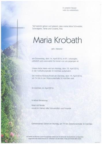 Maria Krobath  geb. Messner