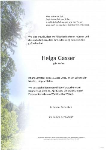 Helga Gasser geb. Kofler