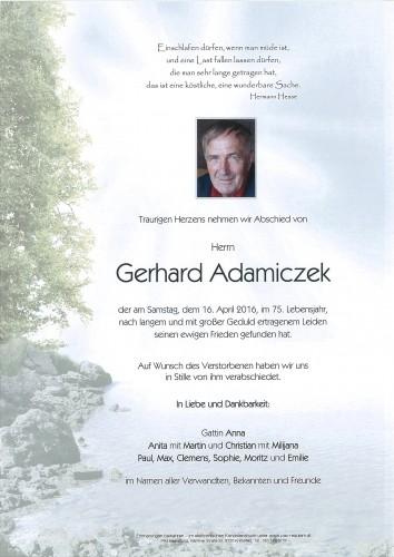 Gerhard Adamiczek