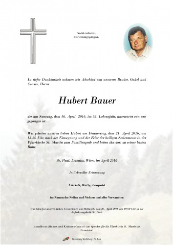 Hubert Bauer