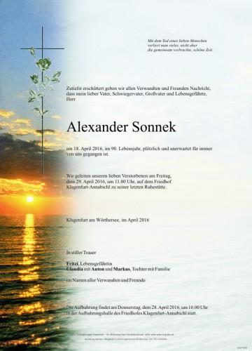 Alexander Sonnek