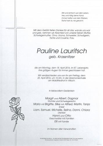 Pauline Lauritsch