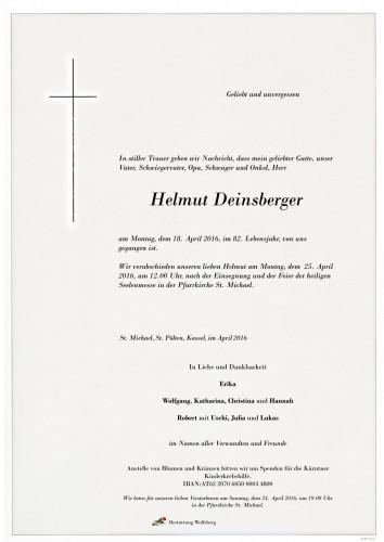 Helmut Deinsberger