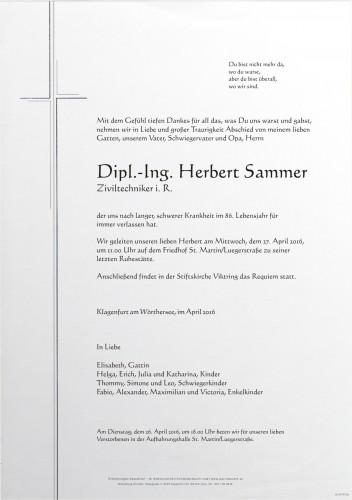Dipl.-Ing. Herbert Sammer