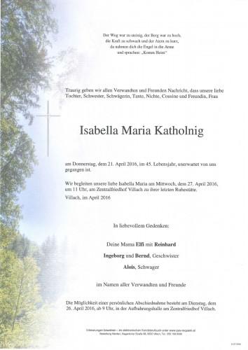 Isabella Maria Katholnig