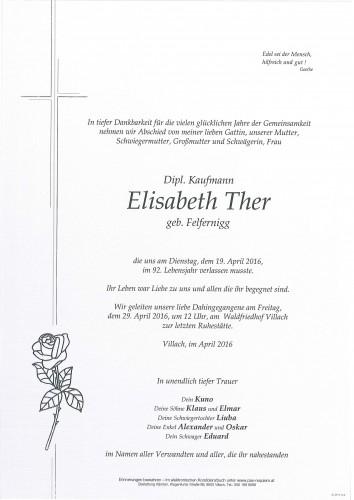 Dipl. Kaufmann Elisabeth Ther