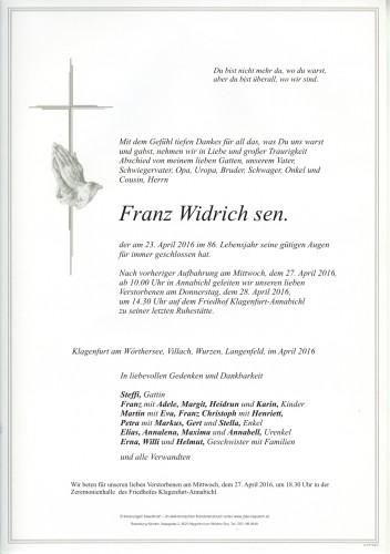 Franz Widrich sen.