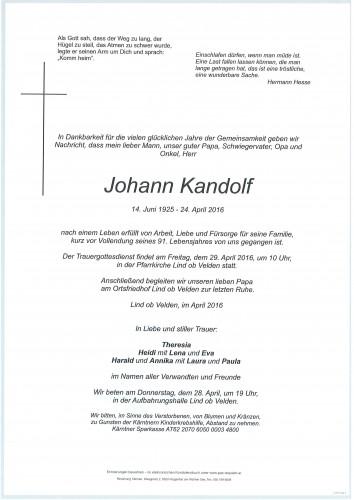 Johann Kandolf
