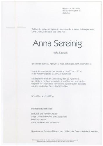 Anna Sereinig  geb. Kappus
