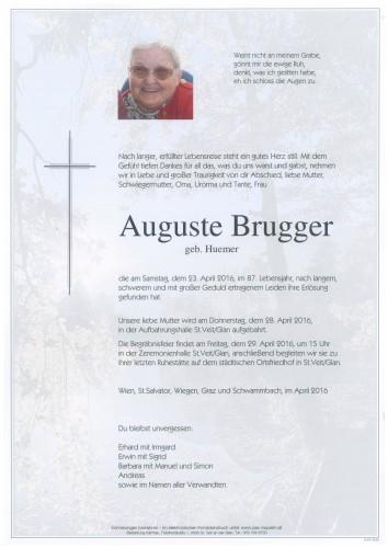 Auguste Brugger  geb. Huemer