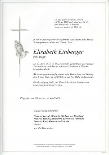 Elisabeth Einberger
