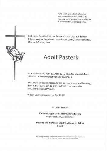 Adolf Pasterk