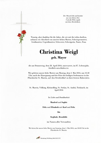 Christina Weigl
