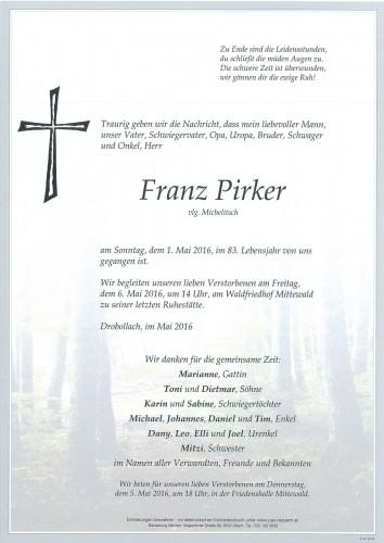 Franz Pirker vlg. Michelitsch