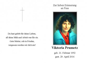 Viktoria Prumetz