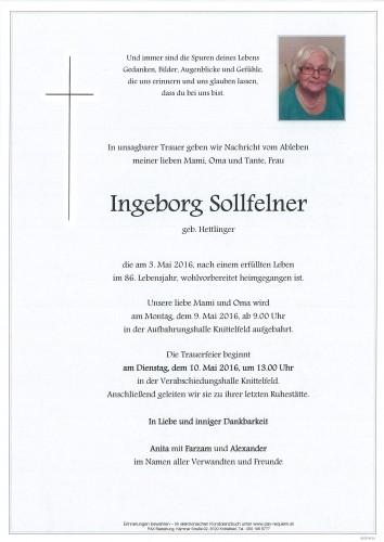 Ingeborg Sollfelner, geb. Hettlinger