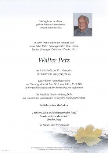 Walter Petz