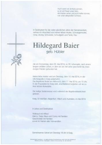 Hildegard Baier geb. Hübler
