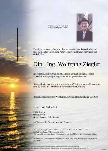 Dipl. Ing. Wolfgang Ziegler