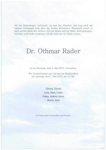 Dr. Othmar Rader